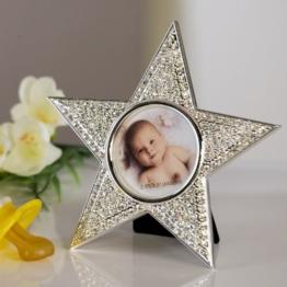 Fotorahmen Star Stern Bild Geburt Taufe Baby Geldgeschenk -
