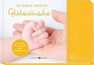 Glückwunschkarte zur Geburt – mit Tasche für Geldgeschenk -