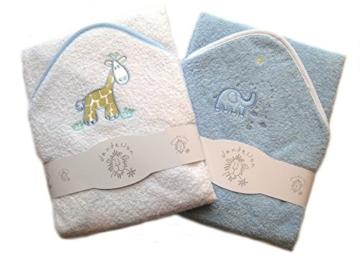 Hochwertiges Baby-Kapuzenbadetuch, 2er-Set -