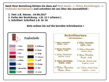 ★ Babydecke mit Namen und Datum bestickt ★ MINKY ★ Baumwolle ★ Füllung ★ (75 x 100 cm, Sterne 2 - Grau) -