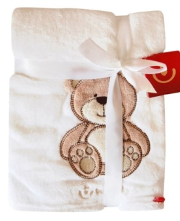 Kuschlige Babydecke mit 3D Applikation / Kuscheldecke 76 x 102 cm -