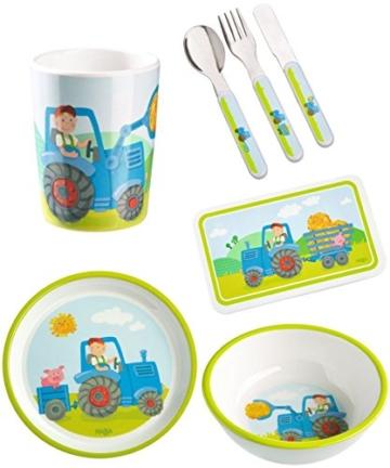 Haba Geschenkset Traktor 5-teilig Geburtsgeschenk, Taufgeschenk oder Mitbringsel inkl. Geschenkverpackung -