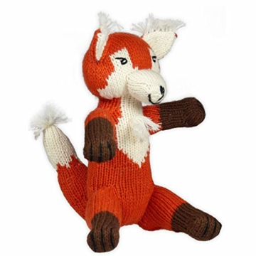 Chill n Feel - Kuscheltier, Fuchs, 23cm, Bio Baumwolle, Fair Trade, Handmade, Babyshower, Geburt, Taufe - 3