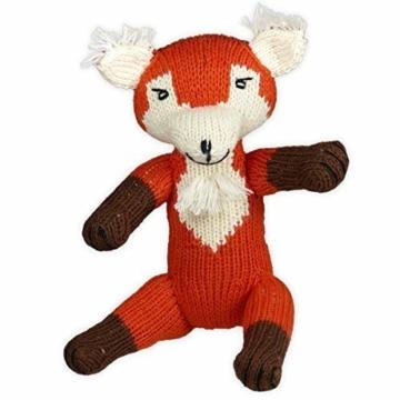 Chill n Feel - Kuscheltier, Fuchs, 23cm, Bio Baumwolle, Fair Trade, Handmade, Babyshower, Geburt, Taufe - 1
