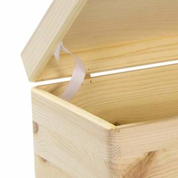 LAUBLUST Holzkiste mit Gravur Personalisiert ❤️ Teddybär Motiv ❤️ Zur Geburt - 30x20x14cm, Natur, FSC® - 6