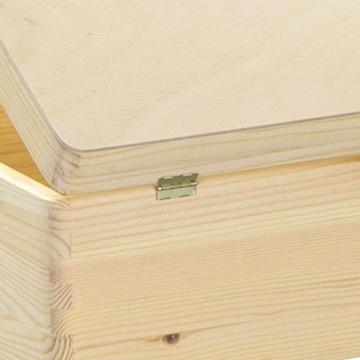 LAUBLUST Holzkiste mit Gravur Personalisiert ❤️ Teddybär Motiv ❤️ Zur Geburt - 30x20x14cm, Natur, FSC® - 7
