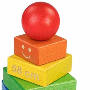 LAUBLUST Stapelturm Personalisiert mit Wunsch-Gravur - Motorikspielzeug für Kinder - Bunt, Holz, ca. 11 x 11 x 19 cm - 4