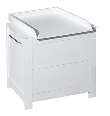 Belivin® 3in1 Wickelkommode weiß | Wickeltisch weiß | ausziehbare Badewanne | umbaubar zur normalen Kommode | große Schubladen | inkl. extra großen abnembaren Wickelaufsatz | besonders stabil - 2