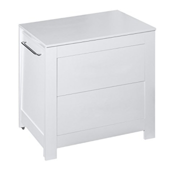 Belivin® 3in1 Wickelkommode weiß | Wickeltisch weiß | ausziehbare Badewanne | umbaubar zur normalen Kommode | große Schubladen | inkl. extra großen abnembaren Wickelaufsatz | besonders stabil - 3