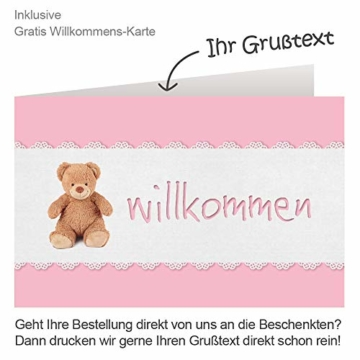 Timfanie® Windeltorte | Steiff Bärchen Rassel |1-stöckig | rosa-punkt | Windeln Gr. 2 (Baby 4-8 Kg) - 3