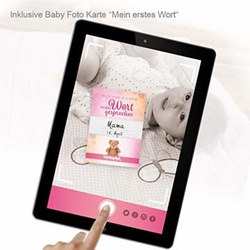 Timfanie® Windeltorte | Steiff Bärchen Rassel |1-stöckig | rosa-punkt | Windeln Gr. 2 (Baby 4-8 Kg) - 4