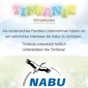 Timfanie® Windeltorte | Steiff Bärchen Rassel |1-stöckig | rosa-punkt | Windeln Gr. 2 (Baby 4-8 Kg) - 8