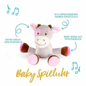Windeltorte in Rosa mit Pony-Spieluhr von Homery, perfekt als Geschenk für Mädchen zur Baby-Party oder Geburt – Handmade fair hergestellt - 3