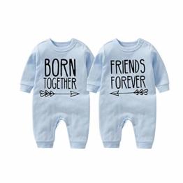 culbutomind Beste Freunde Für Immer Fun Baby-Strampler Baby Geschenke Geburt Erstausstattung(bule1 0-3 Months) - 1