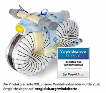 dubistda© Windeltorte Windelmotorrad Jungen ROCKSTAR blau / 45-teilig - Windeltorte Motorrad - Geschenk zur Geburt - 5