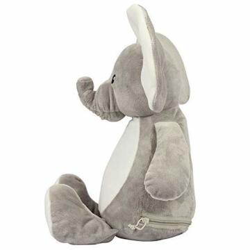 Elefant Baby-Geschenk Kuscheltier Geschenkidee zur Geburt & Taufe personalisiert mit Namen Geburtsdaten Taufspruch - 2