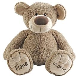 Elefantasie Stofftier Teddy Bär Geschenk mit Namen und Geburtsdatum personalisiert 40cm - 1