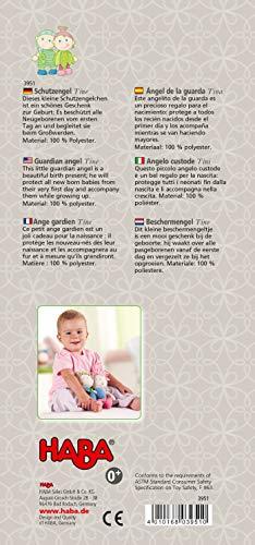 Haba 3951 - Schutzengel Tine, weiche Stoffpuppe für Kinder von 0-5 Jahren zum Spielen und Kuscheln, Prima Geschenk zur Geburt, Taufe oder dem 1. Geburtstag - 3