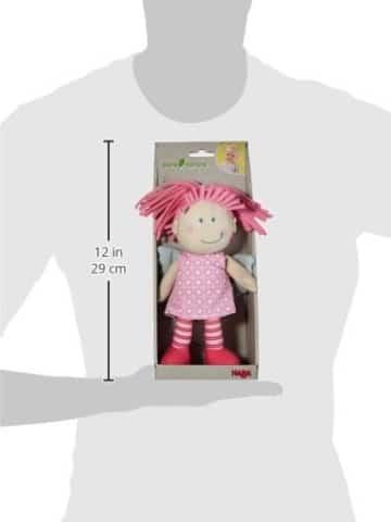 Haba 3951 - Schutzengel Tine, weiche Stoffpuppe für Kinder von 0-5 Jahren zum Spielen und Kuscheln, Prima Geschenk zur Geburt, Taufe oder dem 1. Geburtstag - 5
