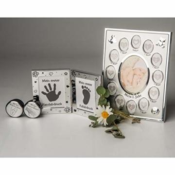 Kamelio Babyset mit Bilderrahmen Fußabdruck Handabdruck und 2 Döschen für die ersten Haare und Milchzähne - 8