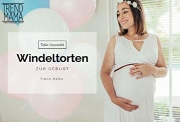 Trend Mama Windeltorte Mädchen -Babysocken + Lätzchen handbedruckt mit coolem Spruch -Sorry Jungs!! Keine Dates sagt Papa-hochwertig verpackt im Geschenkkarton - 3