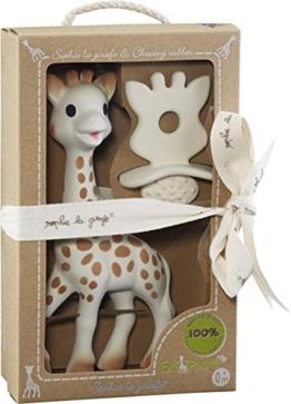 VULLI 616624 Sophie la girafe + 1 Schnuller/Zahnungshilfe SO'PURE, beige - 1