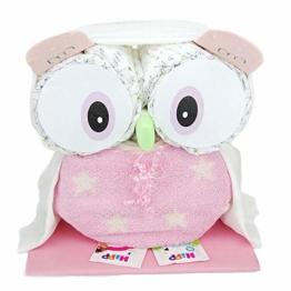 Windeltorte.com - Windeltorte für Mädchen | Rosa Windeleule - inkl. 28 LILLYDOO Windeln | Geschenk zur Geburt | Taufgeschenk | Geschenk zur Babyparty - Premium Windeltorte - 1