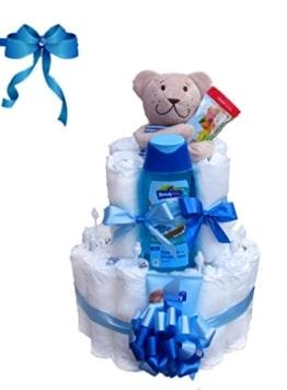 Windeltorte Junge | Das perfekte Geschenk zur Geburt & Taufe - 1