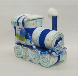 Windeltorte - Windellokomotive Windellok + Schnullerkette blau - Zug - 1