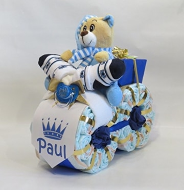 "Windeltorte - Windelmotorrad""Prinz"" blau - 1"