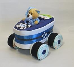 Windeltorte - Windelrennwagen Rennauto blau - 1