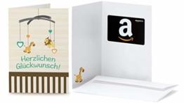 Amazon.de Geschenkkarte in Grußkarte (Baby Glückwünsche) - 1