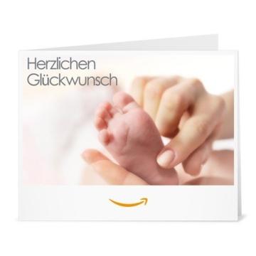 Amazon.de Gutschein zum Drucken (Glückwunsch zum Baby) -