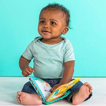 Bright Starts, 8475 Teethe & Read Bilderbuch aus Stoff mit Knistereffekt und Beißecken zur Beruhigung des Zahnfleisches, ab 3 Monaten - 3