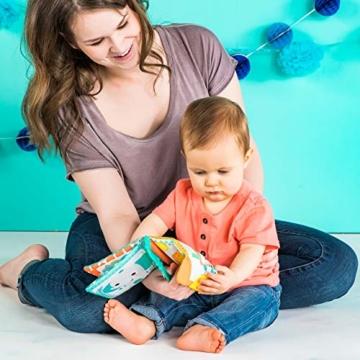 Bright Starts, 8475 Teethe & Read Bilderbuch aus Stoff mit Knistereffekt und Beißecken zur Beruhigung des Zahnfleisches, ab 3 Monaten - 4