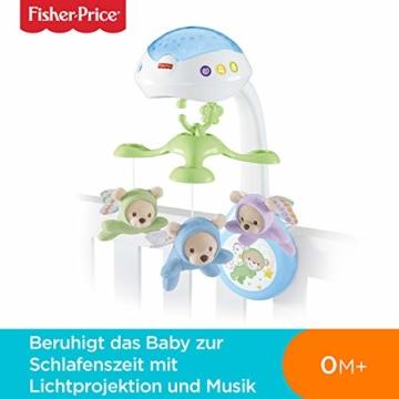 Fisher-Price CDN41 - 3 in 1 Traumbärchen Baby Mobile mit Spieluhr, Nachtlicht, White Noise und Sternenlicht Projektor, Babyausstattung ab Geburt - 2