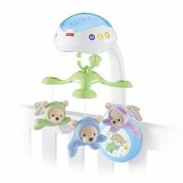 Fisher-Price CDN41 - 3 in 1 Traumbärchen Baby Mobile mit Spieluhr, Nachtlicht, White Noise und Sternenlicht Projektor, Babyausstattung ab Geburt - 1