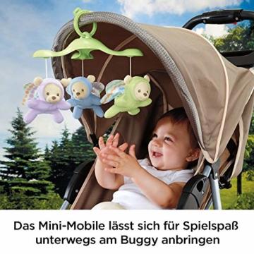 Fisher-Price CDN41 - 3 in 1 Traumbärchen Baby Mobile mit Spieluhr, Nachtlicht, White Noise und Sternenlicht Projektor, Babyausstattung ab Geburt - 6