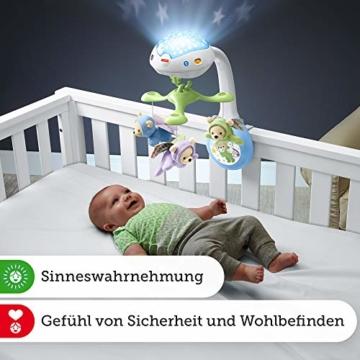Fisher-Price CDN41 - 3 in 1 Traumbärchen Baby Mobile mit Spieluhr, Nachtlicht, White Noise und Sternenlicht Projektor, Babyausstattung ab Geburt - 7