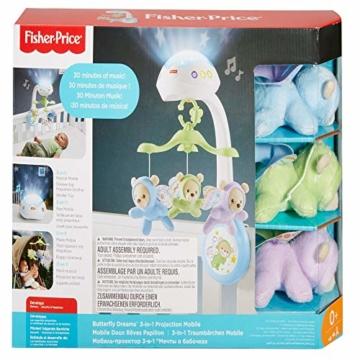 Fisher-Price CDN41 - 3 in 1 Traumbärchen Baby Mobile mit Spieluhr, Nachtlicht, White Noise und Sternenlicht Projektor, Babyausstattung ab Geburt - 8