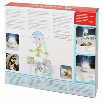 Fisher-Price CDN41 - 3 in 1 Traumbärchen Baby Mobile mit Spieluhr, Nachtlicht, White Noise und Sternenlicht Projektor, Babyausstattung ab Geburt - 9