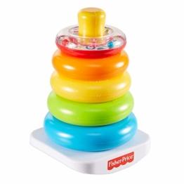 Fisher-Price GKD51 - Farbring Pyramide, klassisches Stapelspielzeug mit Ringen für Babys und Kleinkinder ab 6 Monaten - 1