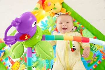 Fisher-Price GXC35 - Rainforest Erlebnisdecke, Krabbeldecke mit Musik und Lichtern, Spieldecke für Babys mit weichem Spielbogen, ab 0 Monaten, mit Tukan, Abweichungen in Verpackung vorbehalten - 3