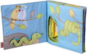 Haba 300146 - Stoffbuch Elefant Egon, weiches Knisterbuch mit vielen Fühl- und Spieleffekten, wunderschön gestaltetes Babyspielzeug ab 6 Monaten - 2