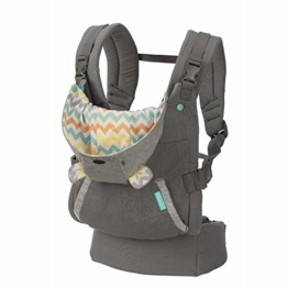 Infantino Cuddle Up Babytrage – Ergonomische Babytrage mit Teddy-Kapuze und verstellbaren Schultergurten – Für Säuglinge und Kleinkinder von 5,4-18 kg - 1