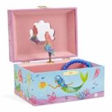 Jewelkeeper - Meerjungfrau Spieluhr Schmuckschatulle, Unterwasser Design mit Narwal Design - Sobre las Olas Melodie - 1