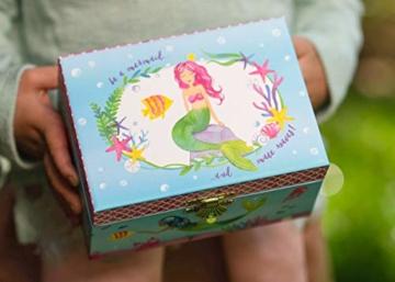 Jewelkeeper - Meerjungfrau Spieluhr Schmuckschatulle, Unterwasser Design mit Narwal Design - Sobre las Olas Melodie - 4