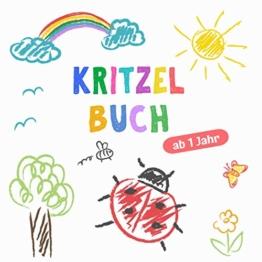 Kritzelbuch ab 1 Jahr: Erstes dickes Ausmalbuch mit 50 tollen Motiven zum Kritzeln, Ausmalen und Lernen der ersten Gegenstände für kreative Kinder - 1