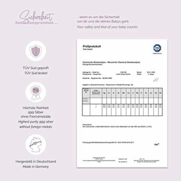 Livella Silberhütchen - Schützt und beruhigt bei wunden und empfindlichen Brustwarzen - Medizinprodukt hergestellt in Deutschland - Stillhütchen 2 Stück - massives 999 Silber - Frei von Kupfer Nickel - 3
