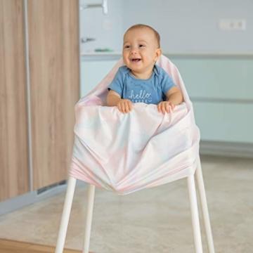 NatureBond Stillschutz Stillen | Atmungsaktiver und sicherster Baumwollbezug Mehrzweck für Baby Autositzbezüge Baldachin Einkaufswagenbezug Schal Licht Decke Kinderwagen (Sunrise Pink) - 6